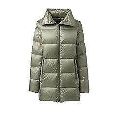 Lands' End - Green lightweight down a-line coat