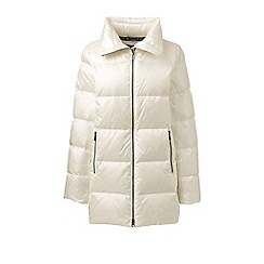 Lands' End - White lightweight down a-line coat