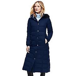 Lands' End - Blue petite maxi down coat