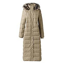 Lands' End - Beige petite maxi down coat