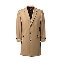 Lands' End - Beige wool blend overcoat