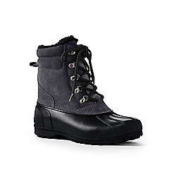 Lands' End - Grey lined winter duck boots