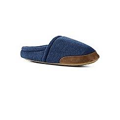 Lands' End - Blue fleece slippers