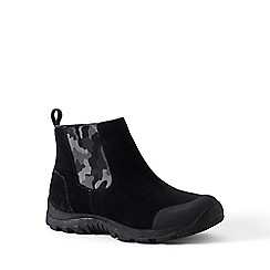 Lands' End - Black regular everyday suede boots