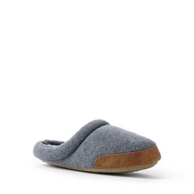 Lands' End - Kids' grey fleece slippers
