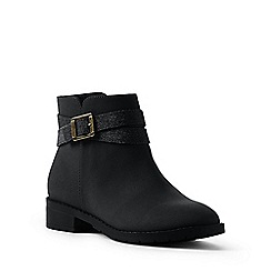 Lands' End - Black regular buckle ankle boots