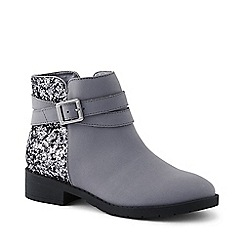 Lands' End - Grey regular buckle ankle boots