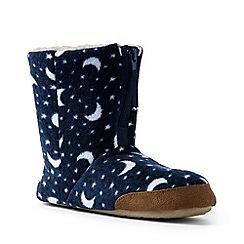 Lands' End - Navy fleece bootie slippers