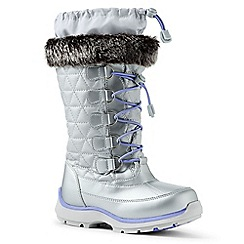 Lands' End - Light grey snowflake boots