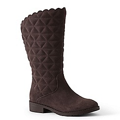 Lands' End - Chocolate quilted suede boots