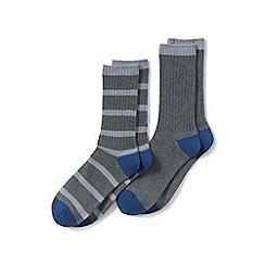 Lands' End - Grey socks (2-pack)