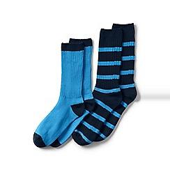 Lands' End - Blue Socks (2-Pack)