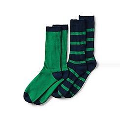Lands' End - Green Socks (2-Pack)