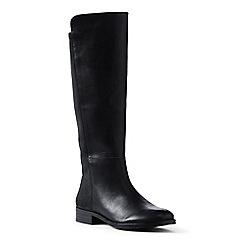 Lands' End - Black regular leather/stretch boots