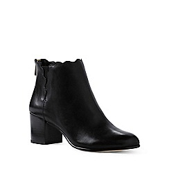 Lands' End - Black regular scalloped ankle boots