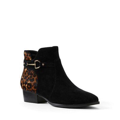 Lands' End - Black regular buckle ankle boots