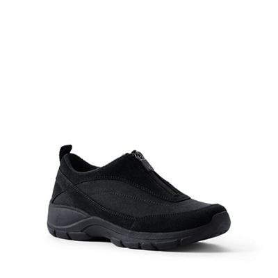 Lands' End - Black regular all-weather zip-front shoes