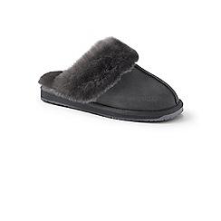 Lands' End - Grey sheepskin mule slippers