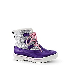 Lands' End - Purple regular quilted duck boots