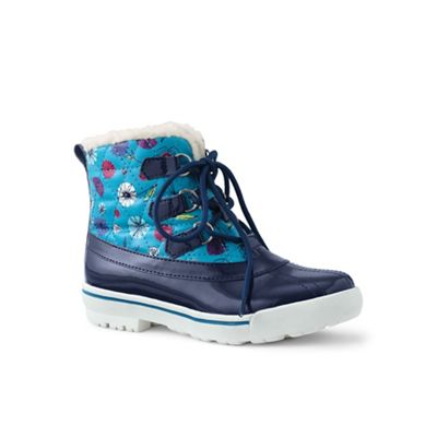Lands' End - Navy regular quilted duck boots