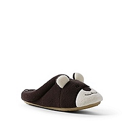 Lands' End - Kids' metallic animal-face fleece slippers