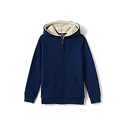 Lands' End - Blue toddler boys' sherpa-lined hoodie