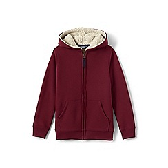 Lands' End - Red boys' sherpa-lined hoodie