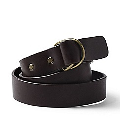 Lands' End - Brown d-ring leather belt