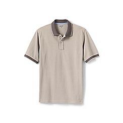Lands' End - Cream tipped pique polo shirt