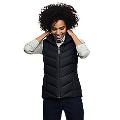 Lands' End - Black petite down gilet