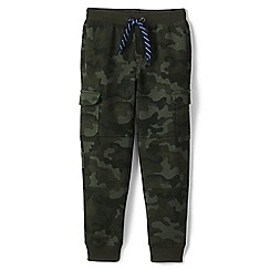 Lands' End - Green boys' iron knee camouflage cargo sweatpants