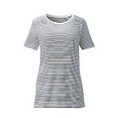 Lands' End - Multi Plus Stripe Cotton Rib Crew Neck T-Shirt