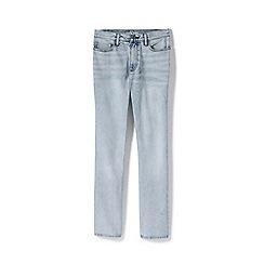 Lands' End - Blue Womens Petite High Waisted Indigo Straight Leg Jeans
