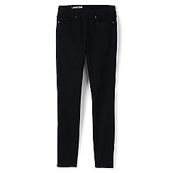 Lands' End - Black pull-on black skinny jeans