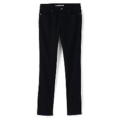 Lands' End - Black true-straight black jeans