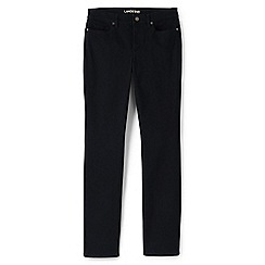 Lands' End - Black straight leg jeans in sueded cotton