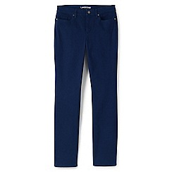 Lands' End - Blue straight leg jeans in sueded cotton