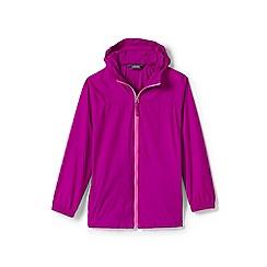 Lands' End - Girls' pink packable navigator jacket