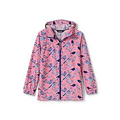 Lands' End - Girls' pink patterned packable navigator jacket