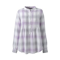 Lands' End - Purple pintucked brushed cotton tunic