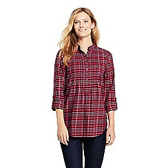 Lands' End - Red pintucked brushed cotton tunic top