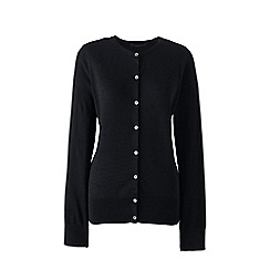Lands' End - Black fine gauge supima cardigan