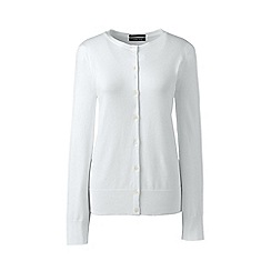 Lands' End - White fine gauge supima cardigan