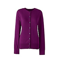 Lands' End - Purple petite fine gauge supima cardigan