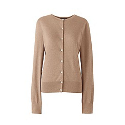 Lands' End - Beige plus fine gauge supima cardigan