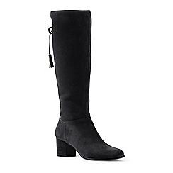 Lands' End - Black block heel suede boots