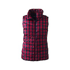 Lands' End - Red tall down patterned gilet