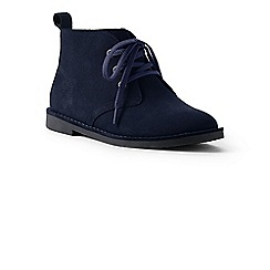 Lands' End - Blue suede chukka boots