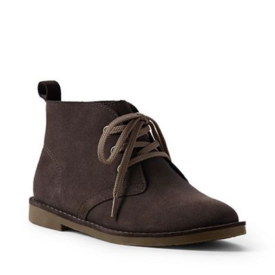 Lands' End Brown - Brown End suede chukka boots 071418