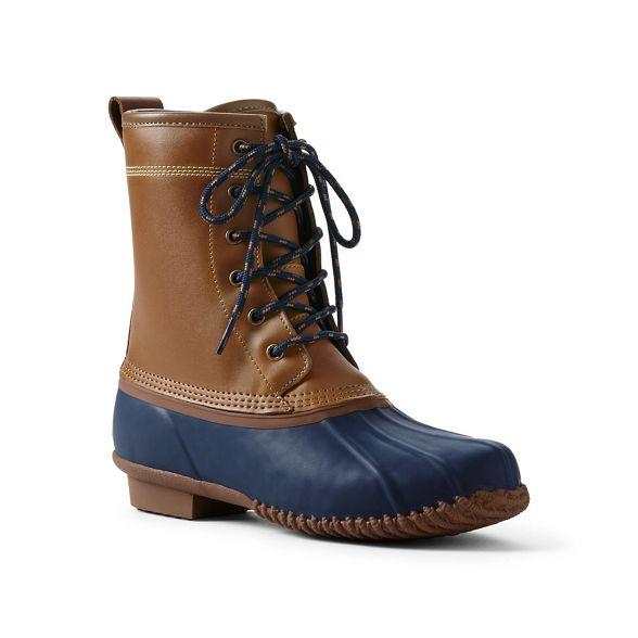 Lands' boots Tan End Lands' End duck BWxYBn